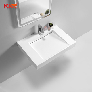 Modern Design Square Wall Bathroom Basin Hung Wash Basin