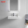 Modern Design Small Slope Solid Surface square Wall Hung Basin