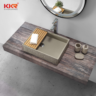 Table Top Basin Solid Surface Rectangular Art Wash Basin