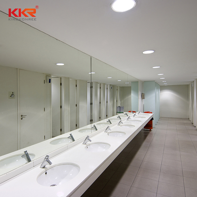 KKR Customized High-End Design Marble Solid Surface Bathroom Countertop