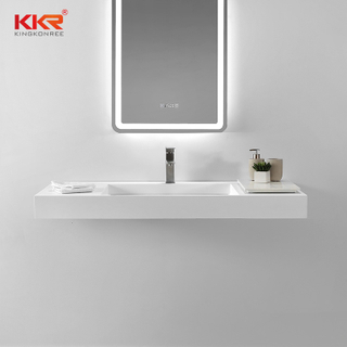 Small Slope modern Rectangular wall hung basin