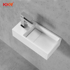 Small Size Resin Wall Mounted Wash Basin