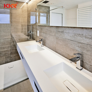 KKR solid surface bathroom countertops with customized size and color