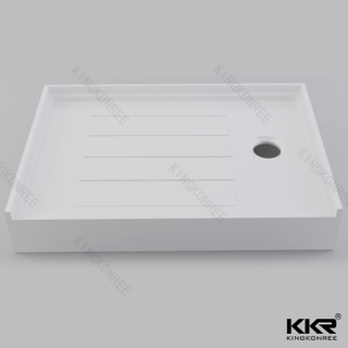 White Solid Surface Shower Pan KKR-T018-L
