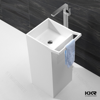 White Matt Resin Bathroom Face Basin KKR-1591