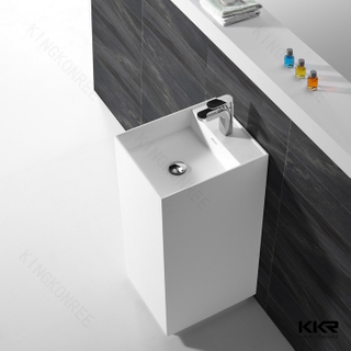 Square Stone Bathroom Faucet Basin KKR-1589