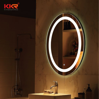 Good Quality Round Shape Bathroom Vanity Mirror With Led Light Match For High-end Design KKR-8011