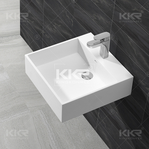 Small Square Artificial Stone Wash Basin KKR-1313