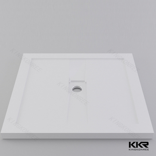 White Matte Resin Shower Tray KKR-T002-A
