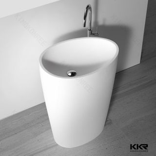 Oval Shape Resin Stone Toilet Basin KKR-1582