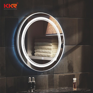 LED Round Shape Sanitary Ware Defogg Bathroom Vanity Mirror KKR-8013